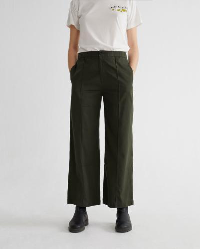 Pantalon ample vert forêt en coton bio - maia - Thinking Mu