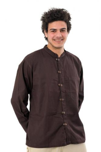 Chemise double bouton homme