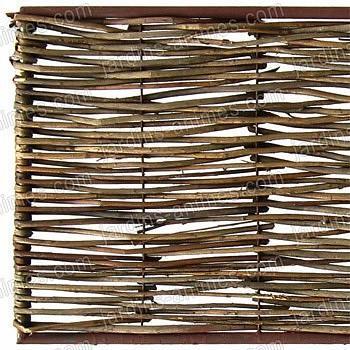Bordure médiévale acier osier 120x45cm