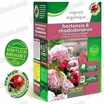 Engrais Bio pour Hortensia-Rhodo 4kg