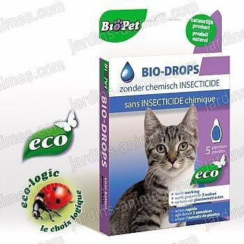 Pipette écologique Chat anti nuisible x5