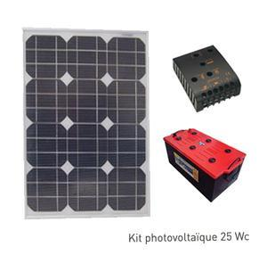 Kit Photovoltaique SITE ISOLE 30 Wc - 12V