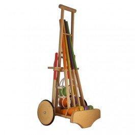 Jeu de croquet en bois pour les petits