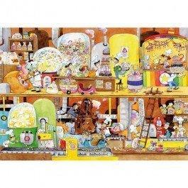 Puzzle en bois L'usine des bonbons 100 pcs