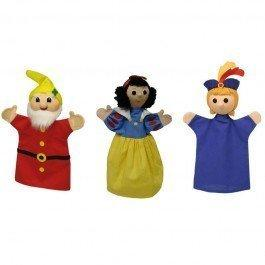 Set de 3 marionnettes Blanche Neige