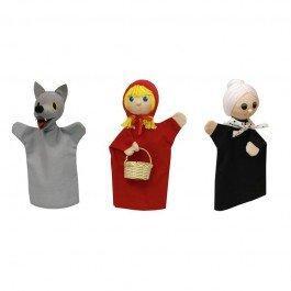 Set de 3 marionnettes Chaperon Rouge