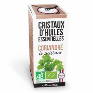 Cristaux d'huiles essentielles Coriandre bio 20g