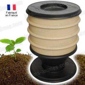 Lombricomposteur FR EcoWorms BEIGE et 250g vers