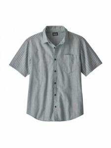 Chemise Organic Cotton Slub Popelin - Combed Striped : Superior Blue - Patagonia