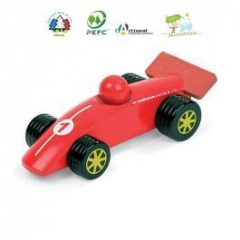 Voiture en bois Formule 1 rouge
