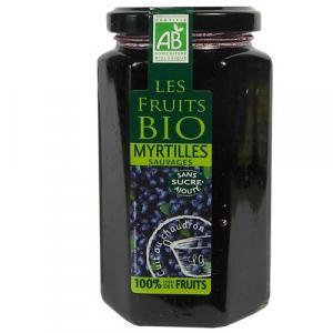 Spécialités aux myrtilles sauvages bio sans sucres ajoutés