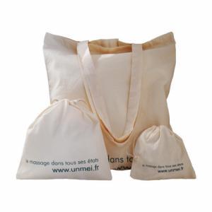 sachets et sac shopping coton bio