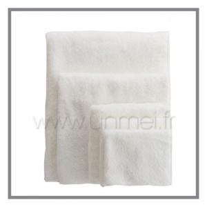 serviette de bain cl zéro twist - fil zéro torsion ( drap de douche - 70 x 140 cm - blanc )