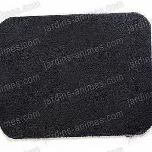 Paillasson tapis Charcoal 100% recyclé 100x80cm