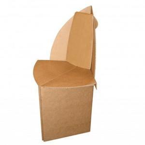 2 chaise en carton pour adulte