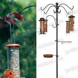 Multi station alimentation oiseaux et 4 Mangeoires