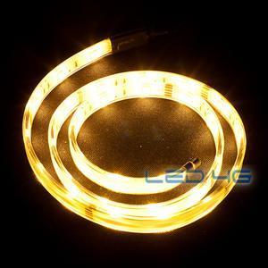 Ruban LED puissant Blanc chaud etanche en 1, 2 et 5M