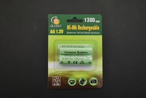 2 batteries rechargeables 1,2 Volts 1 300 mAh AA