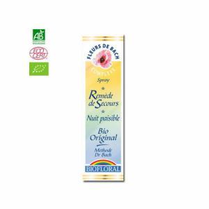 Remède de secours Nuit paisible - Fleurs de Bach bio Rescue Spray 20ml