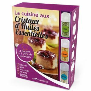 Livre Coffret initiation à la cuisine aux Cristaux huiles essentielles