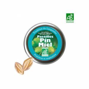 Pastilles bio Pin et Miel 45g - Fraîcheur et respiration
