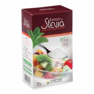 Extrait de Stévia en poudre - Boîte de 50g