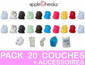 PACK COMPLET 20 COUCHES LAVABLES