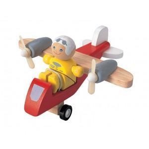 Avion ulm avec pilote plantoys- jouet en bois 2