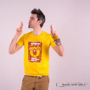 """T-shirt bio équitable DOUALA """"Aubergine Boy"""""""