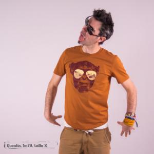 "T-shirt bio équitable DOUALA ""Homo Eradicus"""