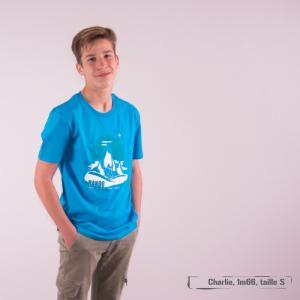 """T-shirt bio équitable DOUALA """"RANDO"""""""