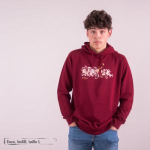 "Sweat capuche équitable bio JAIPUR ""Be different"""