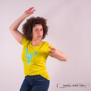 """T-shirt coton bio éthique MANAGUA """"Egalita Powa"""""""
