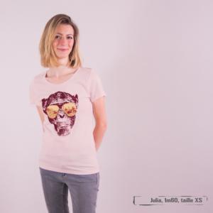 "T-shirt coton bio éthique MANAGUA ""Homo Eradicus"""