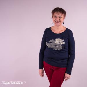 "T-shirt coton bio éthique NALIYA ""Ligne de Vie"""