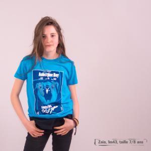 "T shirt coton bio équitable MANAUS ""Aubergine Boy"""