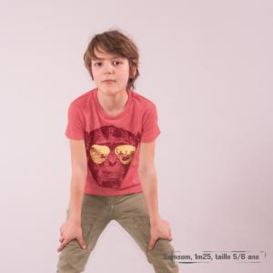 "T shirt coton bio équitable MANAUS ""Homo Eradicus"""