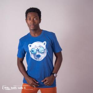 """T-shirt bio équitable DOUALA """"La peau de l'ours"""""""