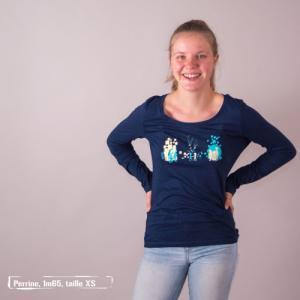 "T-shirt coton bio éthique NALIYA ""Premiers pas"""