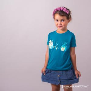 """T shirt coton bio équitable MANAUS """"Premiers pas"""""""
