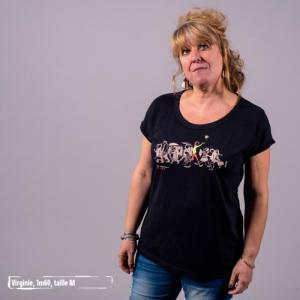 "T shirt écoresponsable et bio slub VIENNA ""Be different"""