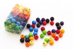 100 perles en bois (12 mm)