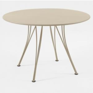 Table acier ronde Ø 110 cm FERMOB  Rendez-Vous