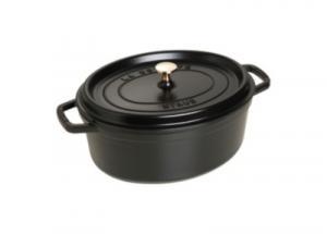Cocotte ovale STAUB diam 33 cm noir