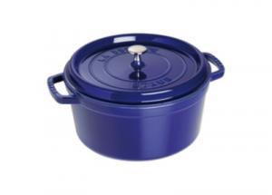 Cocotte  ronde STAUB 28 cm bleu intense