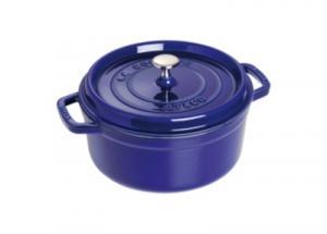 Cocotte  ronde STAUB 24 cm bleu intense