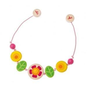Chaîne poussette fleur sevi - jouets en bois