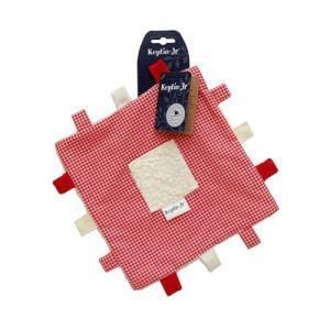 Keptin doudou carré label rouge keptin-jr - doudou ecologique