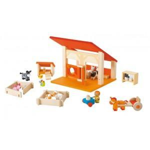 Jouet de la ferme sevi 1831 etable - jouets en bois