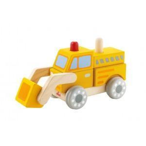 Jeu emboîtement bulldozer sévi - jouets en bois  2